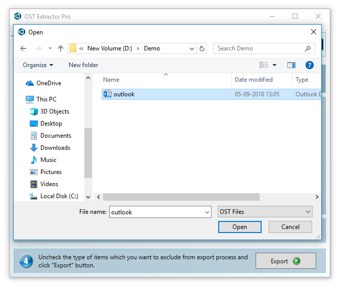 Step 2 how to convert ost to pst
