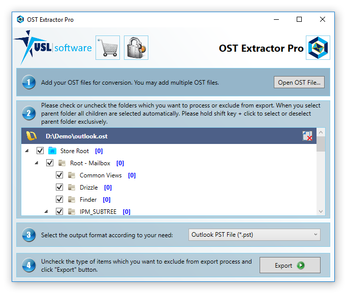Step 3 how to convert ost to pst