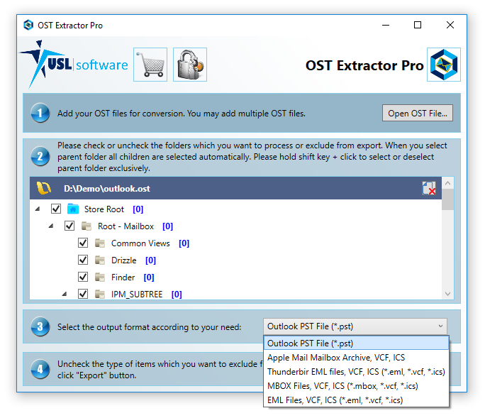 Step 4 how to convert ost to pst