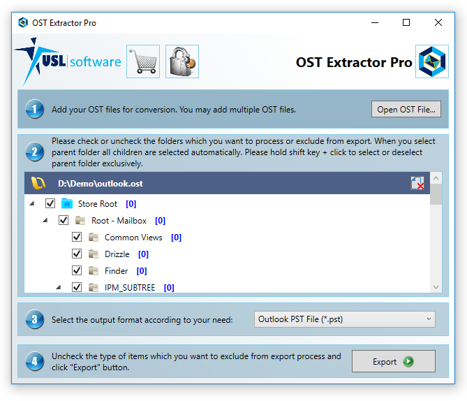 Step 5 how to convert ost to pst