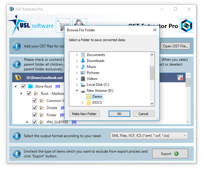 Step 6 how to convert ost to pst